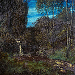 Hans Thoma - Forest landscape