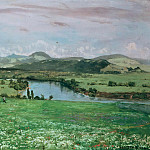 Michel (Mihaly) Lieb Munkacsy - The Rhine at Sackingen