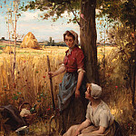Henri Adriene Tanoux - A rest from the harvest