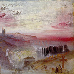 Joseph Mallord William Turner - Turner_Joseph_Mallord_William_View_over_Town_at_Suset_a_Cemetery_in_the_Foreground