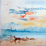 Джозеф Уильям Мэллорд Тёрнер - Turner Joseph View to the east from Giudecca Sun