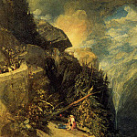 Joseph Mallord William Turner - Turner_Joseph_Mallord_William_The_Battle_of_Fort_Rock_Val_d-Aoste_Piedmont