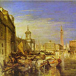 Джозеф Уильям Мэллорд Тёрнер - William Turner - Bridge of Signs, Ducal Palace and Custom-House, Venice_ Canaletti Painting