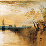 Joseph Mallord William Turner - Turner Joseph Chichester canal Sun