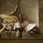 Unknown painters - Still Life with a Dead Bird and Hunting Gear