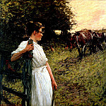 Henry Herbert La Thangue - The Farmers Daughter