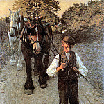 Henry Herbert La Thangue - The ploughboy