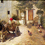 Henry Herbert La Thangue - Farm Yard Scene