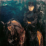 Max Liebermann - Ida Gorz on horseback