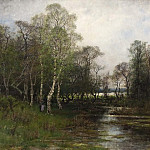 Unknown painters - Spring Landscape. Motif from Tullinge in Södermanland