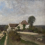 Unknown painters - Landscape near Grez-sur-Loing