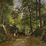Unknown painters - Summer Landscape near Fontainebleau