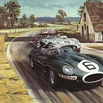 Michael Turner - Cmamtcl 008 white house corner at le mans 1955