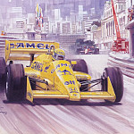 Michael Turner - Cmamtmon 049 1987 first of six for senna at monaco