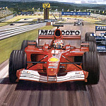 Michael Turner - Cmamtfo 001 michael and ralf european gp 2001 nurburgring