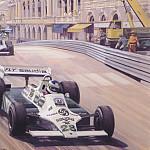 Michael Turner - Cmamtmon 042 1980 first monaco success for williams