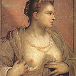 Tintoretto (Jacopo Robusti) - Portrait of a Woman Revealing her Breasts