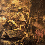 Tintoretto (Jacopo Robusti) - Tintoretto Baptism of Christ, 1579-81, 538x465 cm, Sala Gran