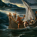 Tintoretto (Jacopo Robusti) - TINTORETTO CHRIST AT THE SEA OF GALILEE, C. 1575-1580, DET(1