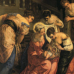 Tintoretto (Jacopo Robusti) - The_Birth_of_St._John_the_Baptist_detail_WGA
