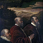 Tintoretto (Jacopo Robusti) - Three Venetian Counsellors [School of]