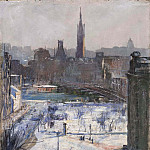 Mårten Eskil Winge - View of Riddarholmen