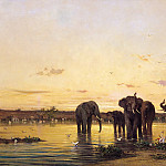 Sir John Lavery - African Elephants