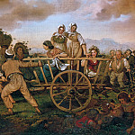 Carl Wilhelm Kolbe II - Cart with children