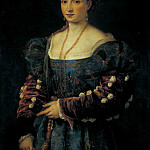 Titian (Tiziano Vecellio) - Lady in a Blue Dress