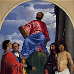 Titian (Tiziano Vecellio) - Saint Mark Enthroned with other Saints