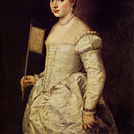 Woman in white, Titian (Tiziano Vecellio)