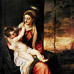 Titian (Tiziano Vecellio) - Virgin with Child at Sunset