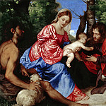 The Virgin and Child with St John the Baptist and an Unidentified Saint, Titian (Tiziano Vecellio)