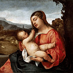 Titian (Tiziano Vecellio) - Madonna and Child in the Countryside