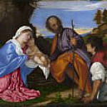 Titian (Tiziano Vecellio) - The Holy Family with a Shepherd