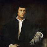 Titian (Tiziano Vecellio) - Man with Glove