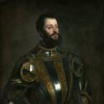 Titian (Tiziano Vecellio) - Portrait of Alfonso d'Avalos, Marquis of Vasto, in Armor with a Page