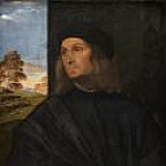 Titian (Tiziano Vecellio) - Portrait of the Venetian Painter Giovanni Bellini