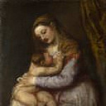 Titian (Tiziano Vecellio) - The Virgin suckling the Infant Christ