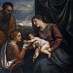 Titian (Tiziano Vecellio) - A Sacra Conversazione (The Madonna and Child with Saints Luke and Catherine of Alexandria)