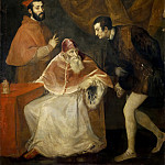 Titian (Tiziano Vecellio) - PopePaul III with the Nephews
