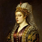 Caterina Cornaro as Saint Catherine of Alexandria, Titian (Tiziano Vecellio)