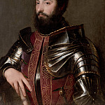Titian (Tiziano Vecellio) - Portrait of a man in armor