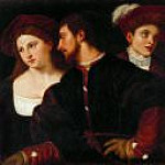 Titian (Tiziano Vecellio) - Self-Portrait with Friends