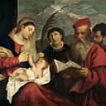 Titian (Tiziano Vecellio) - Madonna and Child with SS. Stephen, Jerome and Maurice
