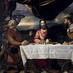 Titian (Tiziano Vecellio) - The Supper at Emmaus (Titian and Studio)