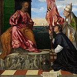Jacopo Pesaro, Bishop of Paphos, being Presented by Pope Alexander VI to Saint Peter, Titian (Tiziano Vecellio)