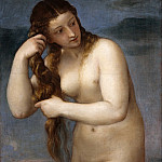 Titian (Tiziano Vecellio) - Venus Rising from the Sea (Venus Anadyomene)