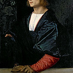 Young Man with Gloves, Titian (Tiziano Vecellio)