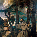 Titian (Tiziano Vecellio) - St Francis receiving the stigmata